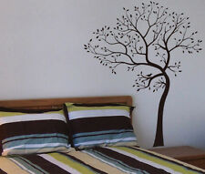 TREE and Bird Wall Decal - Leaning to the Left - Deco Art Sticker Mural