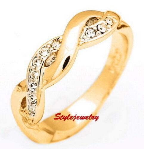 18CT ROSE GOLD GP LADIES GIRLS DRESS DOUBLE ETERNITY WOMENS WEDDING BAND RING