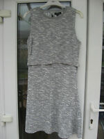 TOPSHOP Open Back Grey Dress Size 10