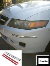 4 Pcs Chrome Bumper Guard Universal Protect Scratch Front Rear Corner Molding Us