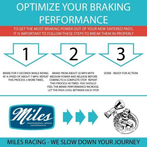 Miles Racing Sintered Brake Pads for MTB Brakes SRAM Avid Elixir 1 3 5 7 9 R CR