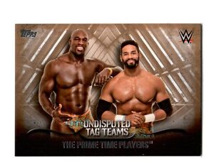 WWE-Prime-Time-Players-2016-Topps-Undisputed-Tag-Teams-Parallel-Card-SN-27-of-99