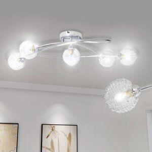 Details zu vidaXL Deckenlampe Chrom Wohnzimmer Lampe Leuchte Deckenleuchte  Flurlampe