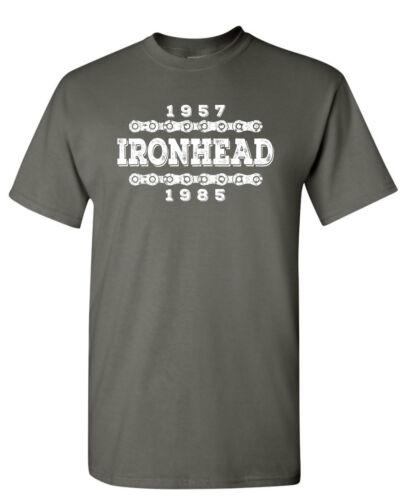 IRONHEAD 1957-1985 T-shirt Harley Davidson Sturgis Biker