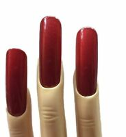 Extra Wide Red False Nails For Crossdressers And Trans Women.