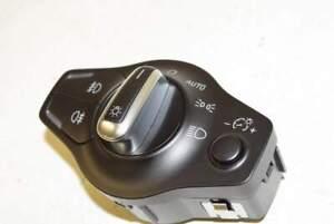 Audi-Q5-8R-08-12-Interruttore-interruttore-luci-NSW-NSL-cromo-nero-per-auto-xeno