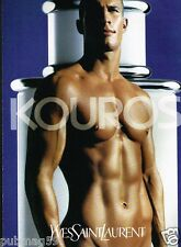 Publicité advertising 1999 Eau de Toilette Kouros par Yves Saint Laurent