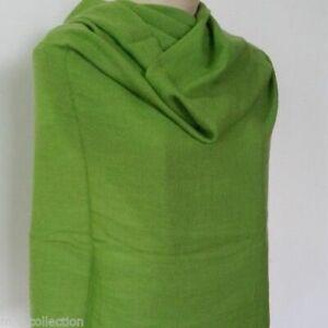 Dark Green Cashmere Nepalese Handmade Warm Pashmina Shawl Stole Scarf Neck Wrap