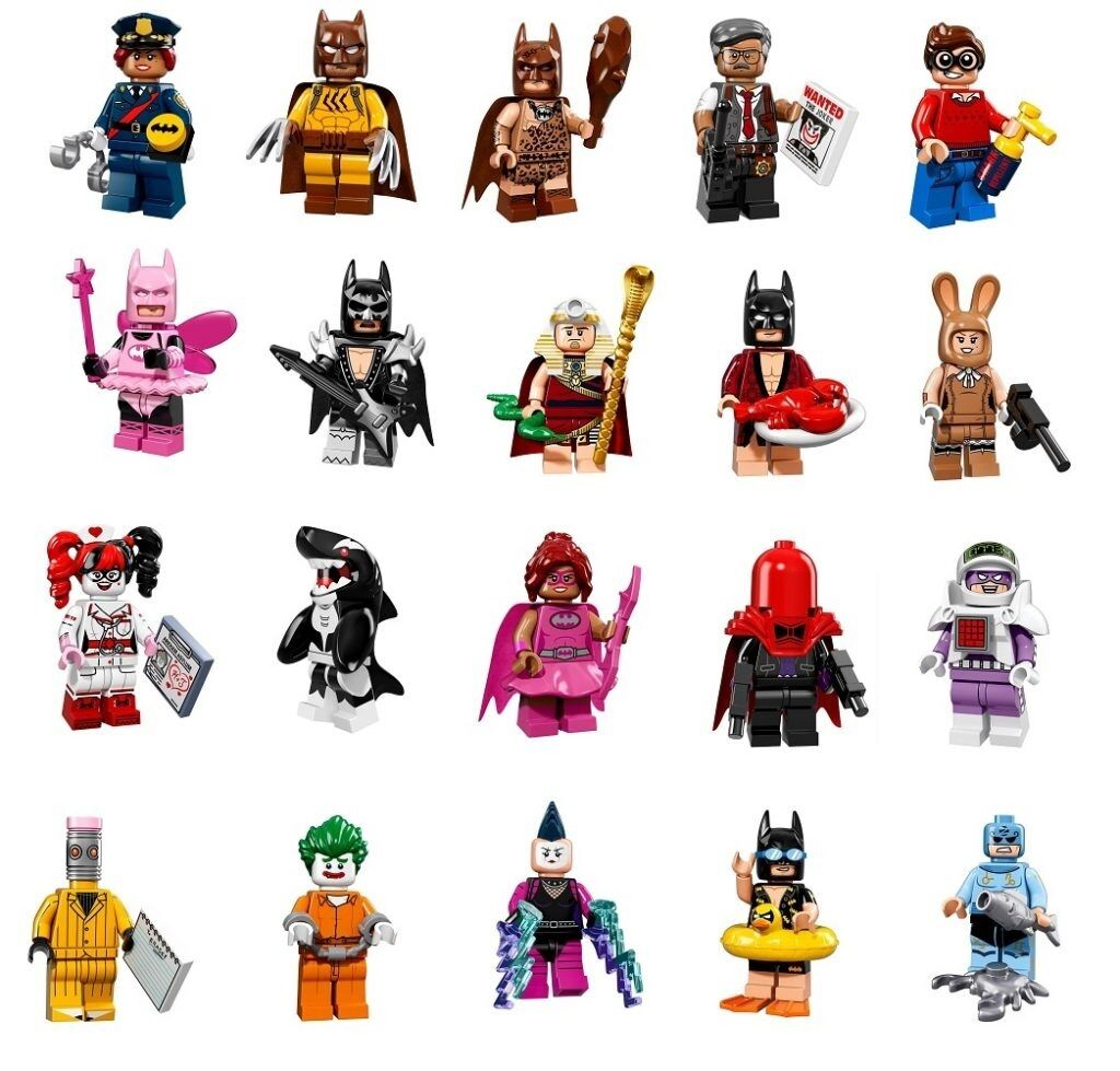 LEGO BATMAN MOVIE SERIES Complete Set-20 MINIFIGS collectible minifigures 71017