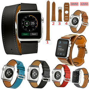 Genuine-Leather-Band-Strap-Bracelet-Single-Tour-Watchband-For-Apple-Watch-iWatch