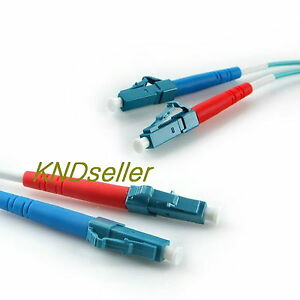 5M-15FT-LC-LC-DUPLEX-MULTIMODE-FIBER-OPTIC-Cable-10G-50-125-m-OM3-AQUA-10GB