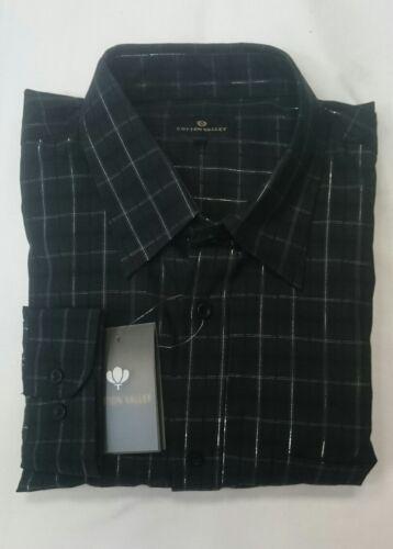 NUOVA Valle di cotone 100/% COTONE Check camicia a maniche lunghe 2XL /& 3XL