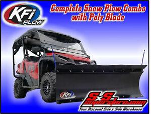 Kfi Utv 66 Poly Snow Plow Kit Polaris Ranger Midsize All Full Size Many Ebay