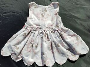 f278d9786db Minnie Mouse Girls Disney Handmade Dress Size 6 9 12 Months White ...