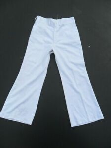 Royal-Navy-Sailor-C2-RN-White-Flares-Bell-Bottoms-Trousers-Retro-Night-Fever-70s