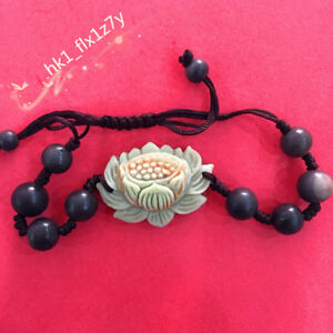 Chinese-Natural-Jade-Lotus-Bracelet-Fashion-Charm-Jewelry-Christmas-Gift-1PC