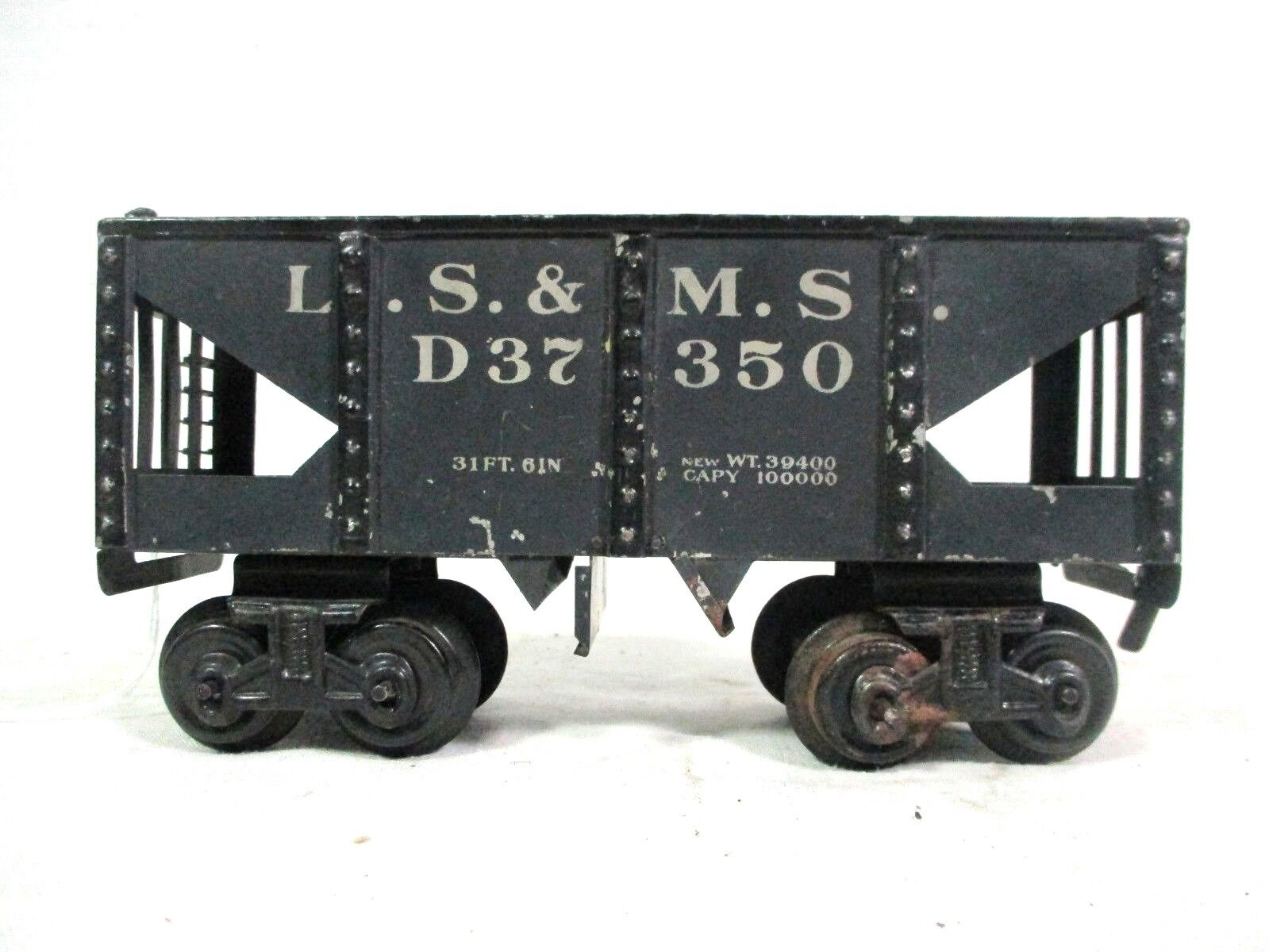 Bing O Gauge American Hopper L.S. & M.S. D37 350 Vintage Railway Train Cars B15