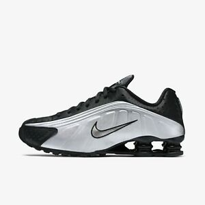 New-Nike-Men-039-s-Shox-R4-Athletic-Shoes-Sneakers-Black-Silver-Gray-104265-045