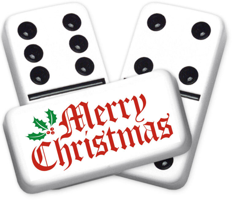 Greeting Series Merry Christmas Design doppio  six Professional Dimensione Dominoes  risparmia fino al 70%