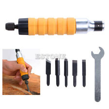 Woodworking Electric Carving Machine Carving Chisel Tool + 5 Carving Blades