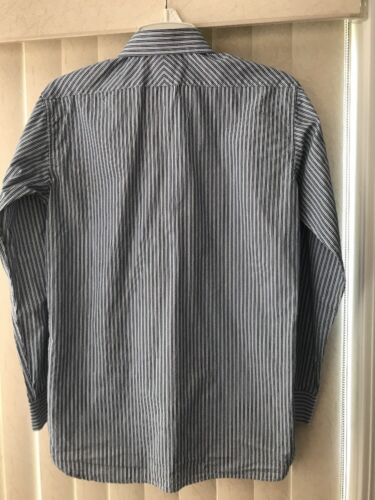 85fe5cb00 3 of 4 DKNY Boy's Button Down Dress Shirt White,Blue & Black Stripes ...