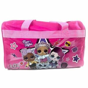 L-O-l-Surprise-Free-Stylin-039-600D-Polyester-Pink-Duffle-Bag-PVC-with-Side-Pane