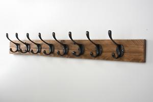 Handmade Wooden Pallet Coat Rack Vintage Cast Iron Coat ...