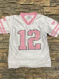 Girls Tom Brady Jersey New England Patriots Pink White Sz L 10/12 ...