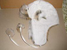b1338e56ef2 item 6 GIRLS WHITE WINTER TRAPPER AVIATOR HAT Faux-Fur Trim w POM POM Ties  One Size -GIRLS WHITE WINTER TRAPPER AVIATOR HAT Faux-Fur Trim w POM POM  Ties One ...