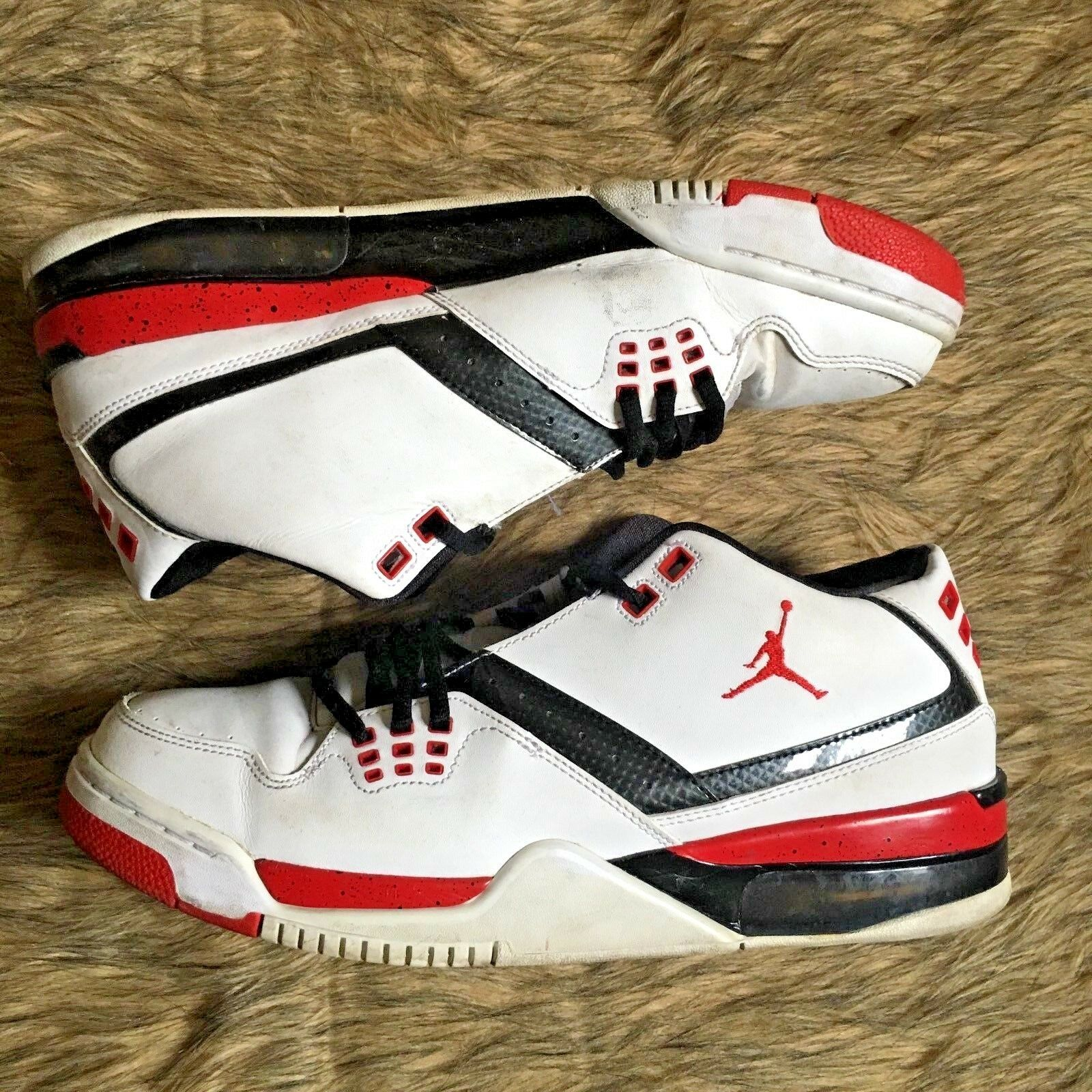 Men's Nike Air Jordan Flight 23 White/Red Basketball Shoes 317820-116 Size 11.5