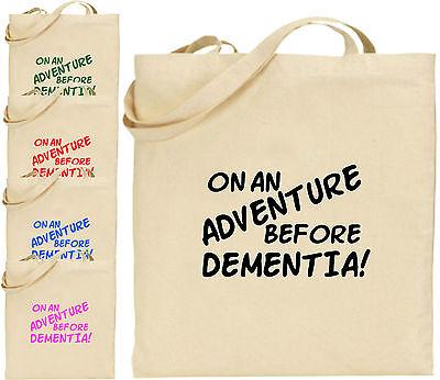 Auf Einem Adventure Dementia Groß Baumwolltasche Einkaufstasche
