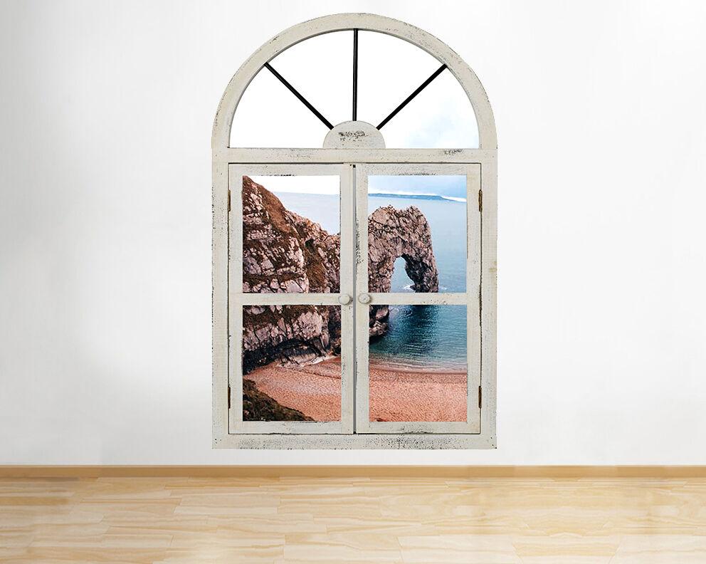 R887 Durdle Door Nature Côte de la mer Fe Autocollant Chambre 3D Vinyle enfants