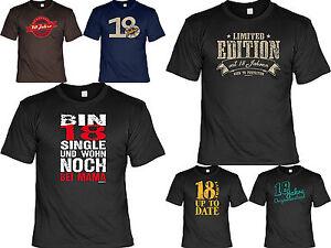 T Shirt 18 Geburtstag Geschenk Zum 18 Geburtstag Coole Spruche T
