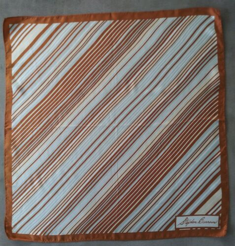 STEPHEN BURROWS 100% Silk Scarf Vintage 70s MUSEUM