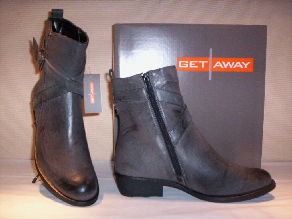 Schuhes booties ankle Stiefel Get Away Damenss Damenss Away schuhe Damens casual Grau n 38 39 40 9bfa5e