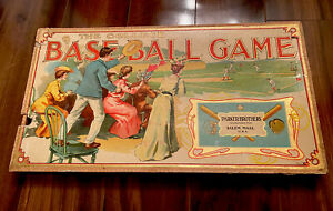 Rare Antique Parker Brothers 1906 The College Baseball Game Litho Board Game
