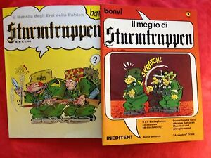 BONVI-il-meglio-di-STURMTRUPPEN-album-1-et-2-edition-originale-1983-85
