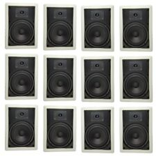 "6 1/2"" 2-Way In-Wall/ Ceiling Speakers Home Theater Contractor PACK - Twelve(12)"