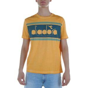 Diadora-SS-Spectra-Used-T-Shirt-Uomo-502-174677-40002-Arancio-Senape