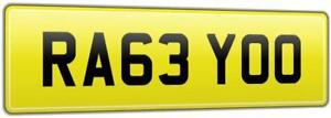 RACE-YOU-FAST-REG-NUMBER-PLATE-RA63-YOO-FOR-SLAMMED-MODIFIED-VW-DUB-V8-V12-RS