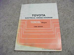 1988 Toyota Tercel Wagon Electric Wiring Diagrams Service Manual Ebay