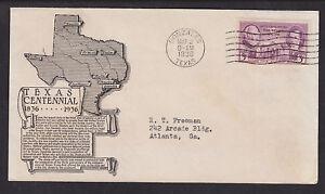 US-Sc-776-FDC-1936-3c-Texas-Centennial-Anderson-Cachet
