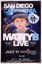 MATTY B RAPS 2014 SAN DIEGO CONCERT TOUR POSTER - Rapper, Hip Hop, Rap Music