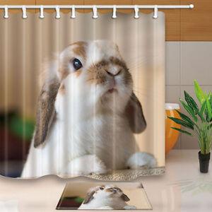 Image Is Loading Cute Baby Rabbit Bathroom Shower Curtain Waterproof Fabric