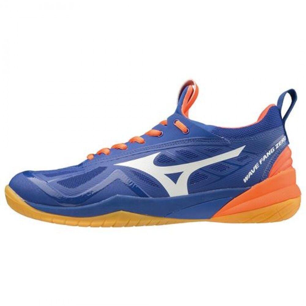 Mizuno Badminton Zapato Onda Fang cero 71GA1990 Azul Naranja blancoo × ×