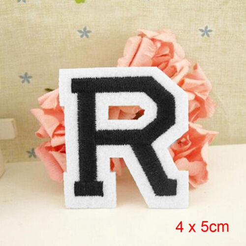 Letter A-Z Embroidered Motif Applique Iron On Patch Sew Clothing DIY PB