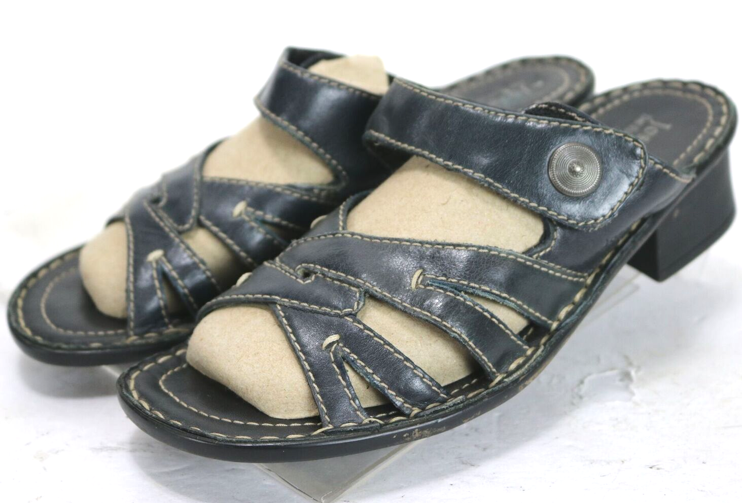 Josef Seibel Lorraine  90 Women's Sandals Size EU 39 US 8.5 Leather Black