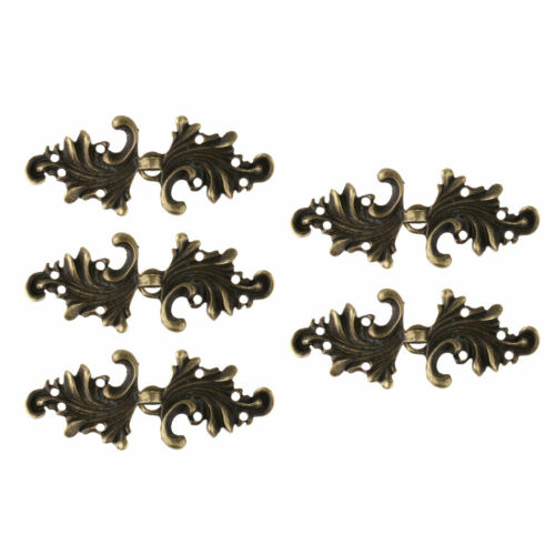 5 Pairs Leaf Cape Cloak Clasp Fasteners Sew On Hooks /& Eyes Cardigan Clip Pins