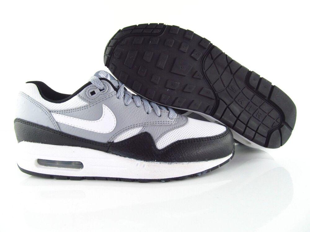 Nike Air Max 1 Noir BLANC Wolf Grey Chaussures 90  Chaussures Grey de sport pour hommes et femmes 8e085f