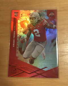 2020 CHRONICLES CHASE YOUNG ELITE RED ASPIRATIONS ROOKIE RC